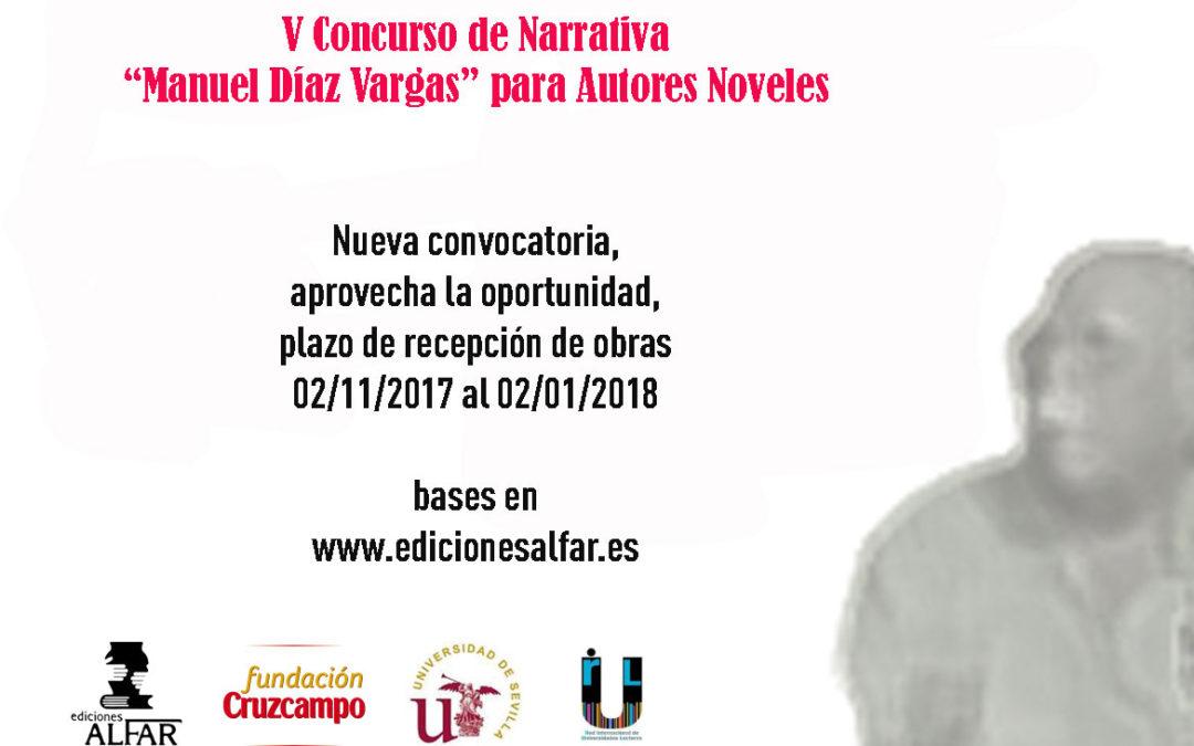 CONVOCATORIA DE LA V EDICIÓN DEL PREMIO DE NOVELA PARA AUTORES NOVELES