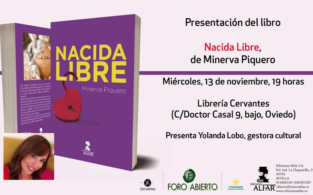 Presentación en Oviedo de Nacida Libre de Minerva Piquero
