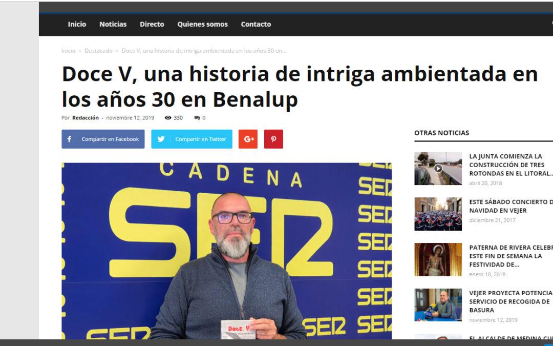 Entrevista en Ser La Janda a Miguel Ángel Moreno y su novela Doce V