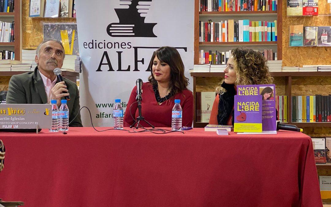 Nacida Libre de Minerva Piquero en La Tarde aquí y ahora con Juan Ymedio y después presentando en Librería Verbo