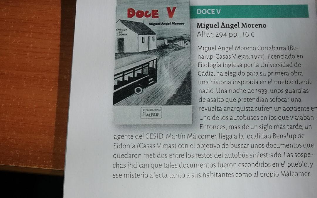 Doce V de Miguel Ángel Moreno en Que Leer