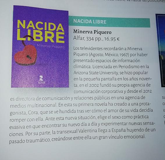 Nacida Libre de Minerva Piquero reseñada en Qué Leer