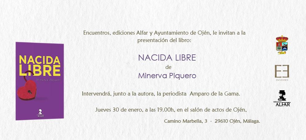 Presentación de Nacida Libre de Minerva Piquero en Ojén, Málaga