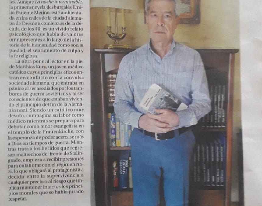 La noche interminable de Emilio Pariente en Diario de Burgos