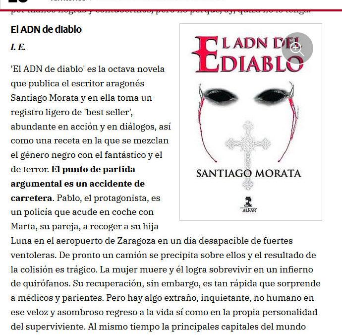 El ADN del diablo reseñado en El Correo