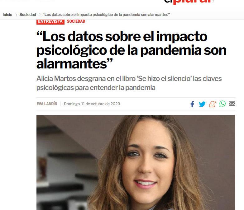 Alicia Martos y Se hizo el silencio en El Plural
