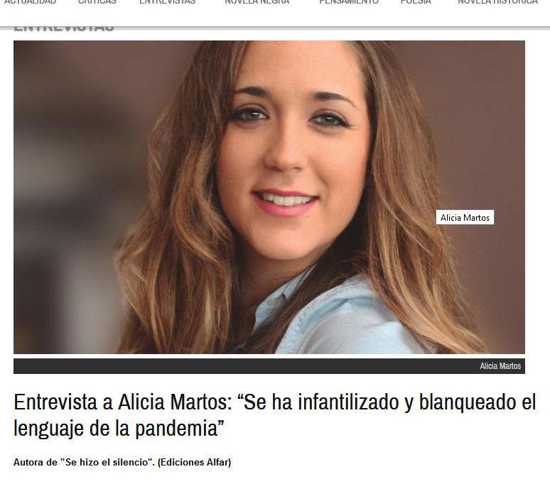Alicia Martos y Se hizo el silencio en todoliteratura.es