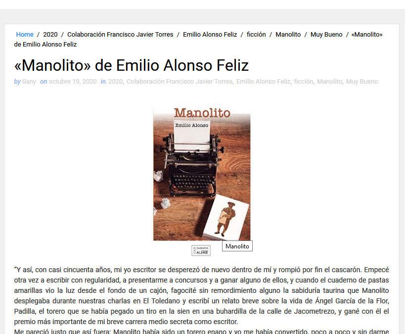 Manolito de Emilio Alonso Feliz en Libros que voy leyendo