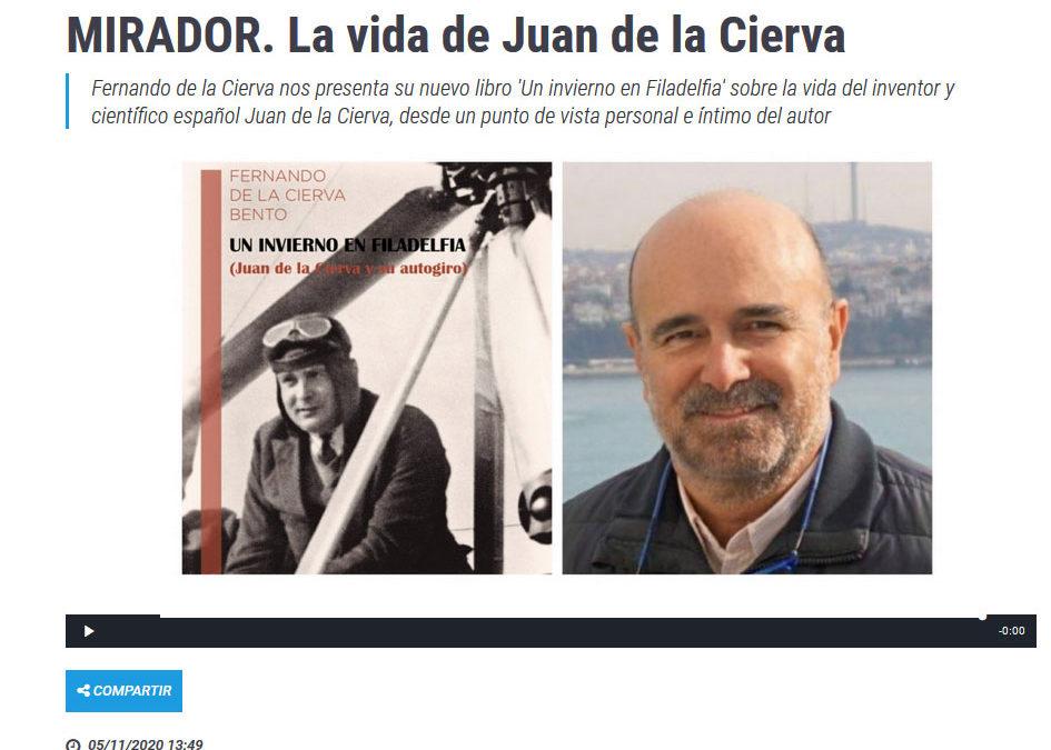 Entrevista a Fernando de la Cierva con su libro Un invierno en Filadelfia en Onda Regional de Murcia