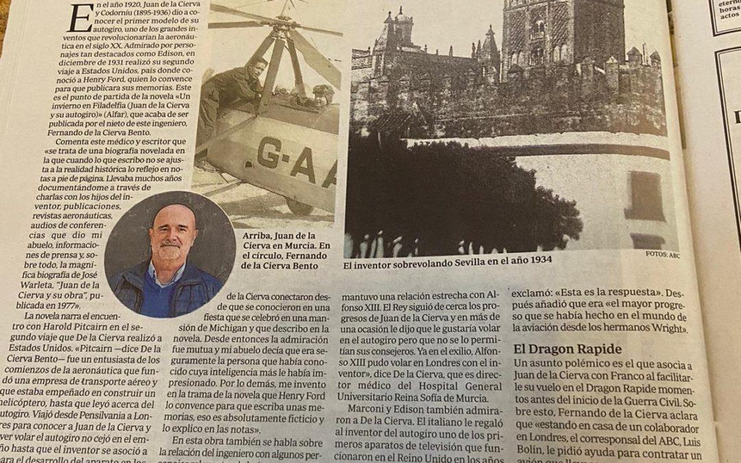 Un invierno en Filadelfia (Juan de la Cierva y su autogiro) en ABC de Sevilla