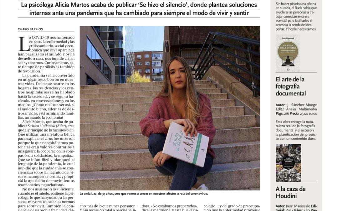 Se hizo el silencio de Alicia Martos entrevistada en los diarios del grupo Promecal