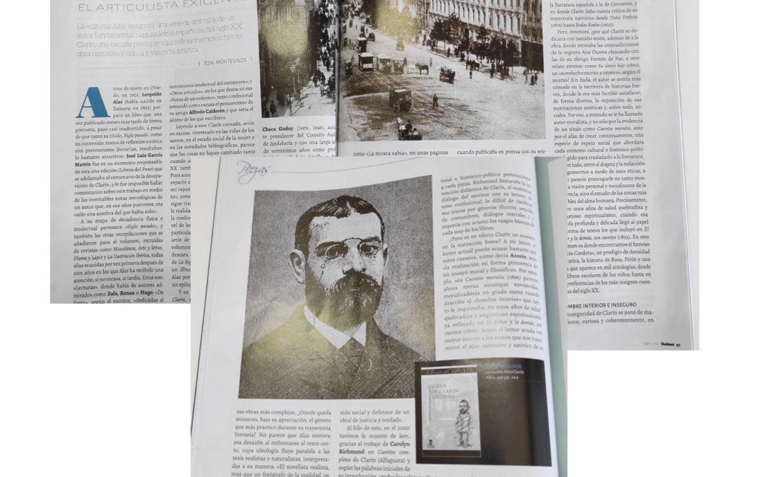 Magnífico reportaje en Qué Leer sobre nuestra edición de los Solos de Clarín
