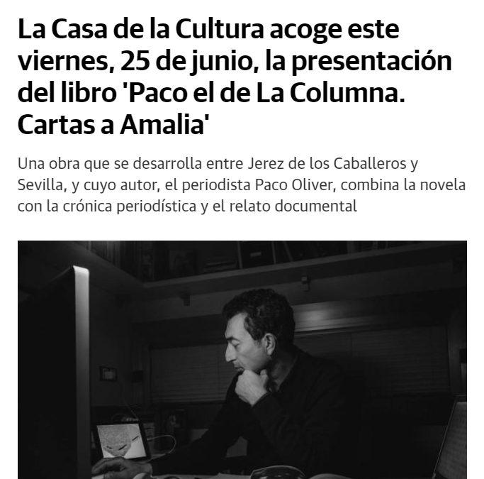 Diario Jerez de los Caballeros, Paco el de La Columna