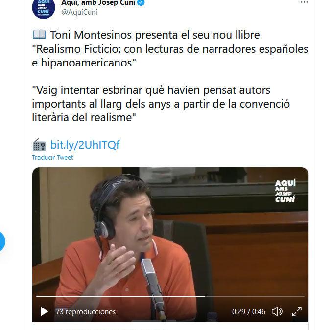 Toni Montesinos y El Realismo Ficticio en Aquí amb Josep Cuní, de la Cadena Ser Barcelona
