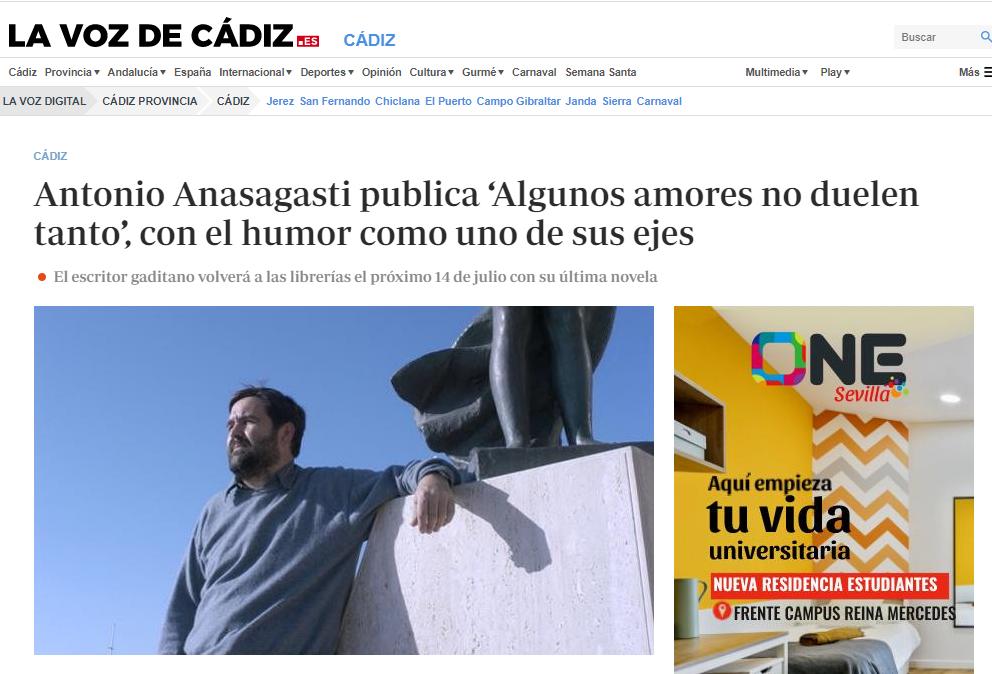 Algunos amores no duelen tanto. La Voz de Cádiz.